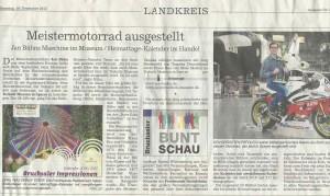 Zeitungsartikel Museum BNN Bruchsaler Rundschau